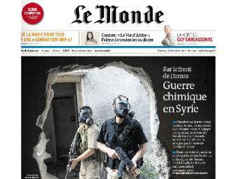 """Résultat de recherche d'images pour """"Les Unes sur la Syrie Le Monde,"""""""