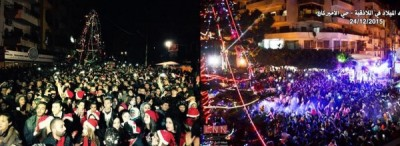 Christmas celebration in the streets of Latakia, Syria. Credit: The Saker.